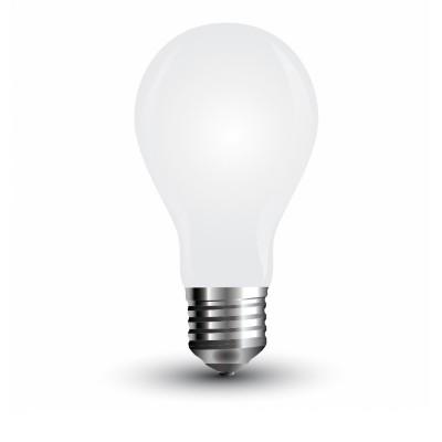 Lampadine led vetro bianco filamento E27 4W A60 V Tac VT-1939 4489 4490 4491
