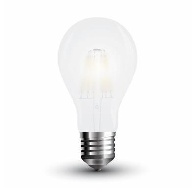 Lampadine led vetro satinato frost E27 4W A60 filamento V Tac VT-1934 4486 4487 4488