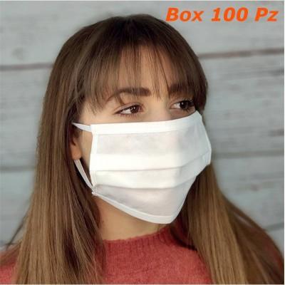 Mascherine 3 strati TNT riutilizzabili lavabili sterilizzabili tipo chirurgica Box 100 pz
