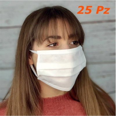 Mascherine 3 strati TNT riutilizzabili lavabili sterilizzabili tipo chirurgica 25 pz