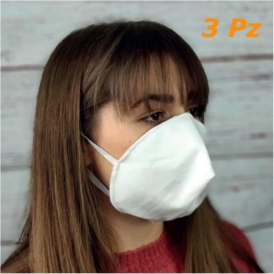 Mascherine 2 strati 100% cotone riutilizzabili lavabili sterilizzabili Conchiglia 3 pz