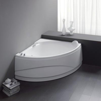 Vasca da bagno angolare 133X133 semicircolare incasso acrilico guscio + telaio Osiride