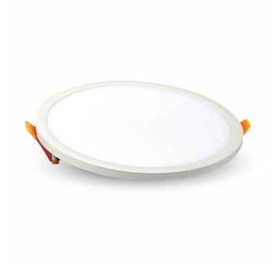 Pannello led rotondo incasso bianco 9 cm 8W V Tac VT-888 RD 4931 4932