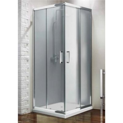 Box doccia angolare quadrato cristallo perlato scorrevole 6 mm 75X75 ShowerTech