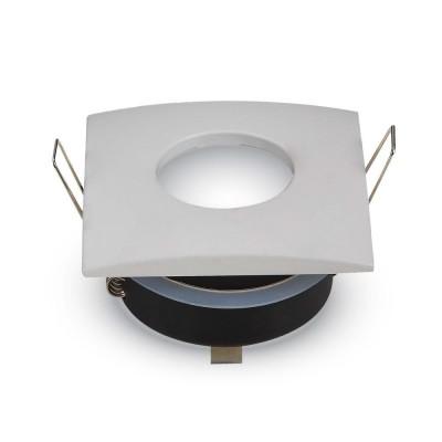 Portafaretto da incasso IP54 con vetrino impermeabile quadrato Bianco V Tac VT-787SQ 3615