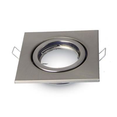 Portafaretto incasso orientabile quadrato alluminio cromo lucido V Tac VT-7227SQ 3474
