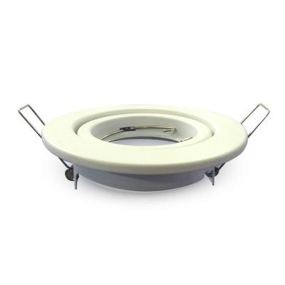 Portafaretto incasso orientabile rotondo alluminio Bianco V Tac VT-7227RD 3469