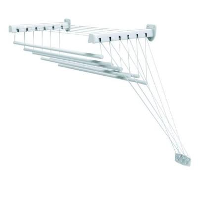 Stendibiancheria da soffitto e parete con saliscendi acciaio Lift 140 GIMI