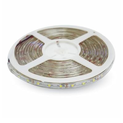 Striscia led IP65 impermeabile esterno 3528 monocolore 120 l/m 7,2W/m V Tac 2038 2044 2037