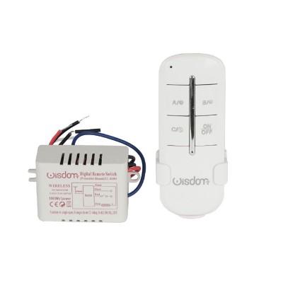 Telecomando centralina wireless luci 1 canale x 1000W Wisdom XC-8080