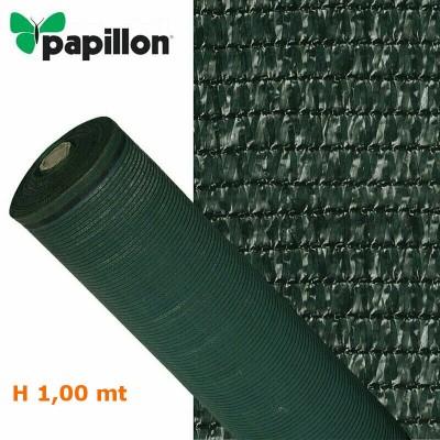 Telo rete ombreggiante alta schermatura 90% oscurante verde H 1,00 Papillon 91189