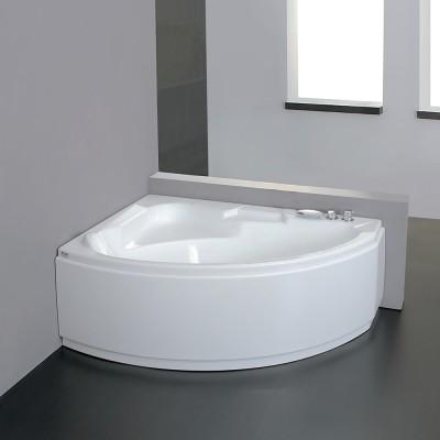 Vasca da bagno angolare 155X105 semicircolare incasso acrilico guscio + telaio Tiberide