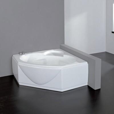 Vasca da bagno angolare 140X140 semicircolare incasso acrilico con pannello frontale Titea