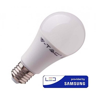 LAMPADINE LED E27 A58 9W SMD SAMSUNG BULBO LUCE FREDDA 6400K V-TAC VT-210 230