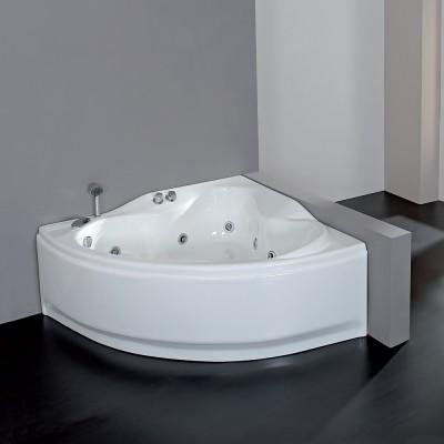 Vasca idromassaggio angolare 146X146 semicircolare incasso acrilico con telaio Venere Easy