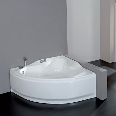 Vasca da bagno angolare 146X146 semicircolare incasso acrilico guscio + telaio Venere
