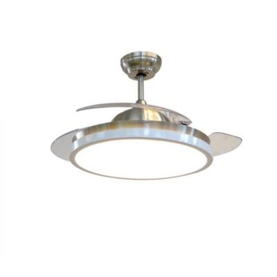 Ventilatore soffitto 35W con lampada led 30W Telecomando Pale a scomparsa V Tac Vt-3042-3 7929