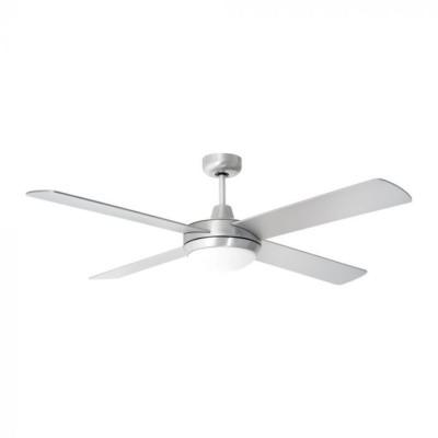 Ventilatore soffitto 4 pale bicolore 35W 2xE27 Telecomando V Tac Vt-6054-4 7918