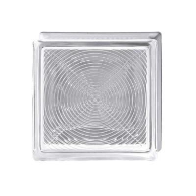 Vetromattone mattone in vetro pedonabile pavimento 19x19x8