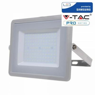 FARETTI LED 100W IP65 SAMSUNG SLIMLINE GRIGIO LUCE NATURALE 4000K V TAC VT-100 473