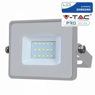 FARETTI LED 10W IP65 SAMSUNG SLIMLINE GRIGIO LUCE CALDA 3000K V TAC VT-10 430