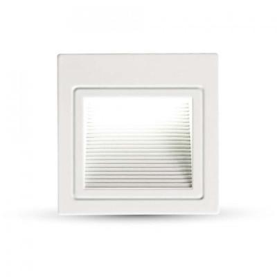 Segnapasso led faretto incasso quadrato bianco 3W IP20 Luce naturale 4000K V-TAC VT-1143 1284