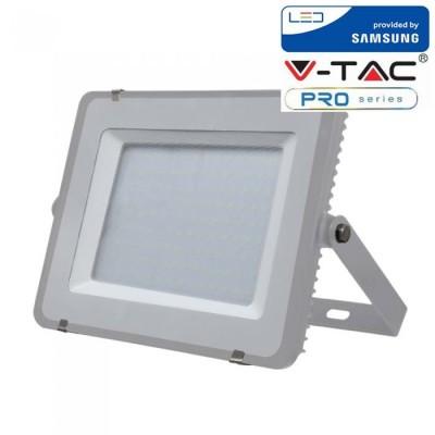 FARETTI LED 150W IP65 SAMSUNG SLIMLINE GRIGIO LUCE FREDDA 6400K V TAC VT-150 483