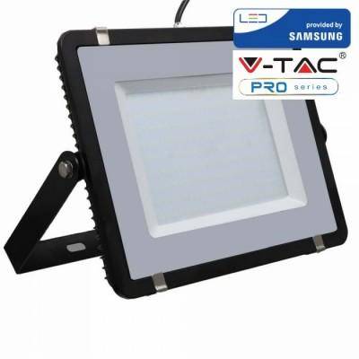 FARETTI LED 200W IP65 SAMSUNG SLIMLINE NERO LUCE FREDDA 6400K V TAC VT-200 419