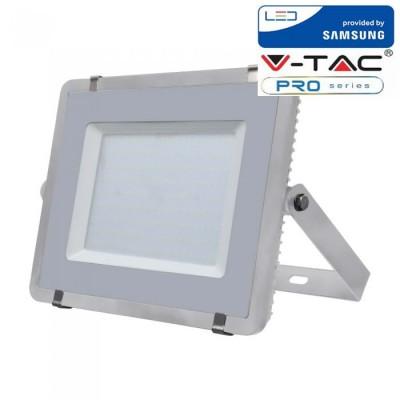 FARETTI LED 200W IP65 SAMSUNG SLIMLINE GRIGIO LUCE FREDDA 6400K V TAC VT-200 485