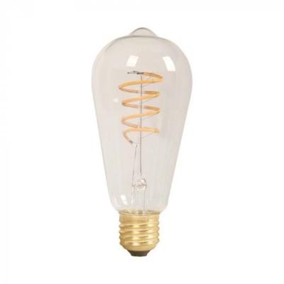 LAMPADINE LED E27 4W ST64 FILAMENTO DIMMERABILE VETRO AMBRATO AMBER COVER V TAC VT-2144 7327