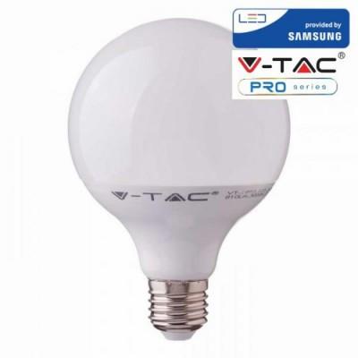 LAMPADINE LED E27 17W G120 GLOBO SAMSUNG CHIP SMD LUCE FREDDA 6400K V-TAC PRO VT-218 227