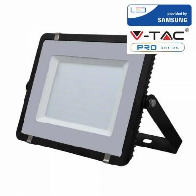 FARETTI LED 300W IP65 SAMSUNG SLIMLINE NERO LUCE FREDDA 6400K V TAC VT-300 423