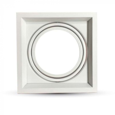Portafaretto incasso AR111 quadrato orientabile alluminio Bianco V Tac VT-7221 3575