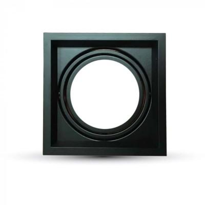 Portafaretto incasso AR111 quadrato orientabile alluminio Nero V Tac VT-7221 3581