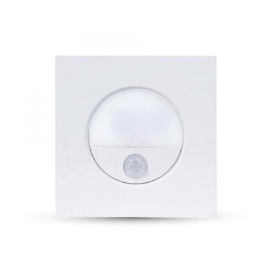 Segnapasso punto luce led 3W IP20 sensore movimento incasso quadrato Bianco Luce naturale V-Tac VT-8035 5570